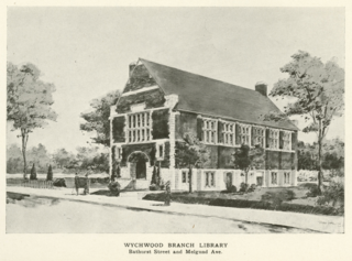 Wychwood branch-architectural drawing from 1915 annual report