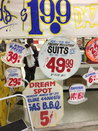 Honest Ed's sign sale 2016 Nov 3