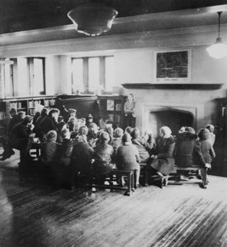 WY 1939 March 18 Children's room 3 children's story time. photo neg Wychwood 3